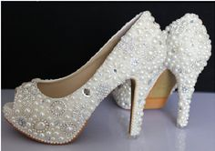 Hey, I found this really awesome Etsy listing at http://www.etsy.com/listing/154701982/open-toe-bling-wedding-shoes-ivory