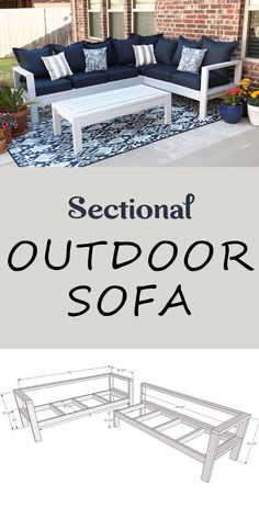 One Arm Outdoor Sofa - Sectional Piece Outdoor Furniture Plans, Diy Garden Furniture, Deck Furniture, Diy Furniture Projects, Best Diy Projects, Patio Furniture Makeover, Furniture Design, Building Furniture, Simple Furniture