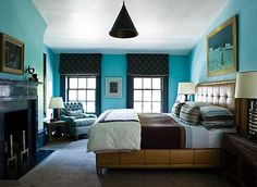 wow: Steven Gambrel makes turquoise moody!  from Odi et Amo: Turquoise is a Neutral