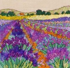 Lavender Fields Textured Embroidery Kit 0049