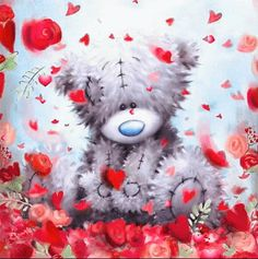 Tatty Teddy, Cute Images, Cute Pictures, Teddy Beer, Balloon Valance, Cute Couple Gifts, Valentine Picture, Teddy Bear Pictures, Blue Nose Friends