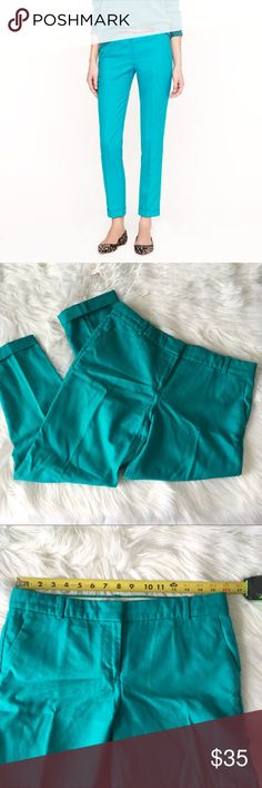 J Crew Cafe Capri in Wool Bright Retro Jade Color Beautiful 'retro jade' bright teal colored J Crew Cafe Capri pant size 6. Item is in excellent condition with no known flaws! Please check out my other listings as I do offer a bundle discount, I love offers! J. Crew Pants Capris