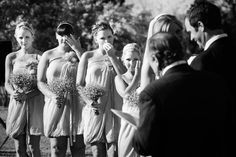 Must-have-shot-of-touched-bridesmaids ... - Sunshine Coast Ranch wedding by Studio Impressions Photography