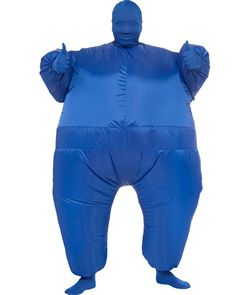 Blue Inflatable Mens Costume
