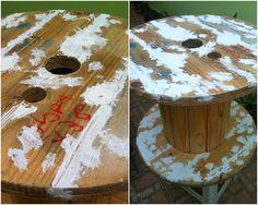 Casa de ideias e decoração: Minhas mesinhas de Carretel
