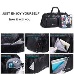 Multifunctional Travel Duffle Bags Sports Gym Luggage Fashionable  Waterresistant  gt  gt  gt  Check e2b5050cd3acf