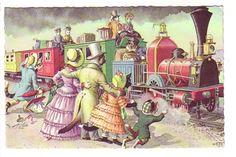 Mainzer Dressed Cats, Passengers and Train, 4926, Belgium