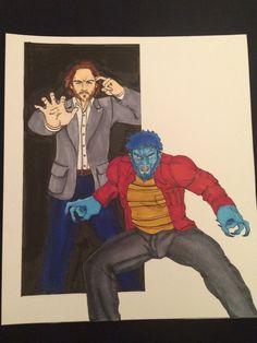 X-men Days of Future Past Beast Print