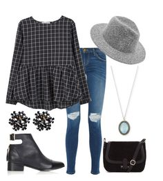 """""""Outfit 90"""" by madimonroe ❤ liked on Polyvore featuring Current/Elliott, MANGO, Topshop and Armenta"""