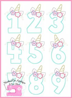Creativos y Geniales Do not add this file to your cart if you qualify for it to be free. Do not add this file to your cart if you. Unicorn Birthday Parties, Unicorn Party, Birthday Party Decorations, Cute Fonts Alphabet, Unicorn Cookies, Unicorn Pictures, Birthday Frames, Cross Stitch Heart, Birthday Numbers