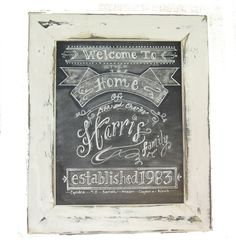 Framed 11 x 14 Chalkboard Art Sign Family Name by watermelonstand, $35.00