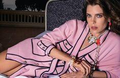 Chanel Brand, Chanel News, Coco Chanel, Charlotte Casiraghi, Chanel Fashion, Couture Fashion, Princess Caroline Of Monaco, Chanel Camellia, Summer Jacket