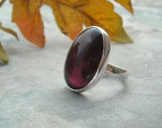 Oval+ring++Amethyst+Ring++Cabochon+ring++Bezel+ring++by+Studio1980,+$65.00