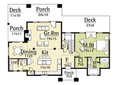 Foyer should be cozy & highlight #2 view. Delete closet. Stairs to downstairs only with visually open safety rail (iron/glass) and window to #2 view. The foyer is a place of rest for receiving & allows only a hint (#2 view) of what's to come. The remainder of the floorplan is horrid.