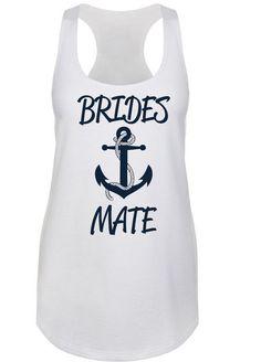 Anchor Motif Brides Mate Racerback Tank Top Style ANCH1533-BM