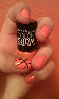 Basketball nails:)
