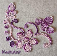 Irish crochet &: Beautiful motifs for the Irish lace. Ideas, not schemes.