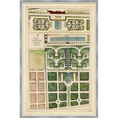 Maps / Charts : 18th Century French Garden Plans
