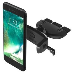 iOttie Easy One Touch Mini CD Slot Car Mount Holder Cradle for iPhone 7 7 Plus/ 6s Plus/6s/6, Galaxy S7/S7 Edge, EdgeS6/S6 Edge, Galaxy Note 5, Nexus 6, & Smartphones