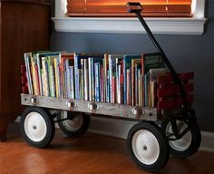Mobile book storage! Love this!