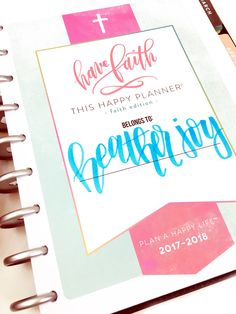 a 'Faith' Frankenplanner - combining our new Horizontal 'Faith' edition & our Rose Gold Horizontal Happy Planner® by mambi Design Team member Heather Kell Bible Study Lessons, Short Prayers, Unicorn And Glitter, Happy Wife, Daily Bible, Prayer Request, Happy Planner, Team Member, Are You Happy