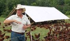 Joel Salatin, activist, environmentalist, author and farmer, shares his thoughts on organic farming and local food production. That's right: He's on a mission to change the world.