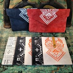 handmade screen printed clutches & ipad sleeves make for the perfect fall accessories! #handmade