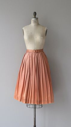 Warm Shimmer skirt  1950s silk satin skirt  vintage by DearGolden