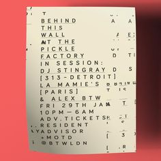 New #poster for the good friends at @btwldn #graphicDesign #DavidMatosDesigner #typography #ResidentAdvisor #DJStingray #LaMamies #ThePickleFactory by _shutupandance