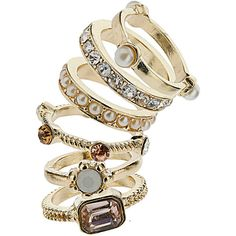 Neutral stone stack rings