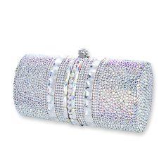 Ample Crystal Clutch Bag #crystal, #clutchbag, #white http://www.playbling.com/en/swarovski-crystal-clutch-bag/ample-crystal-clutch-bag.html
