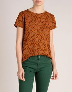 T-Shirt Estampada | MO Online Capsule Wardrobe, Crochet Top, Ideias Fashion, Blouse, Fall, Tops, Women, Printed Cotton, Printed