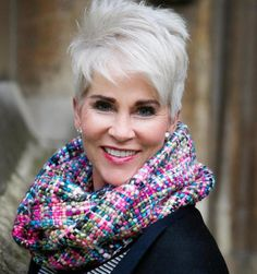 Platinum Pixie Cut - The Best Short Haircuts For Women Over 50 - Photos Hairstyles Over 50, Pixie Hairstyles, Short Hairstyles For Women, Pixie Haircuts, Gray Hairstyles, Hairstyles 2016, Beautiful Hairstyles, Med Haircuts, Woman Hairstyles