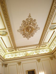 Ceiling of the drawing room at Seaford House in Belgrave Square Painted Ceiling, Gypsum Ceiling Design, Ceiling Decor, Luxury Decor, Classic Ceiling, Ceiling Design, Ceiling Murals, Ornamental Ceilings, Classic Interior Design