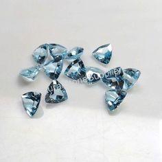 6mm Lot 2,10pcs Heart Cut Natural Earth-Mined Sky Blue TOPAZ