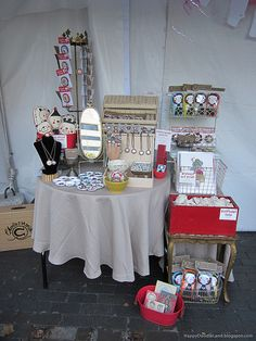 Proof that you don't need a huge space to create an eye-catching display. {craft booth setup}