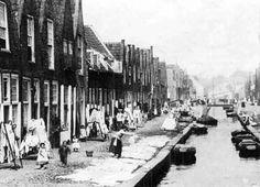 Wasdag op de Waardgracht, Leiden. (1824-1905)