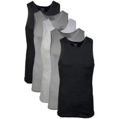 d3de7d4c3cc Gildan - Gildan Men s Cotton Ribbed Assorted Color A-Shirt