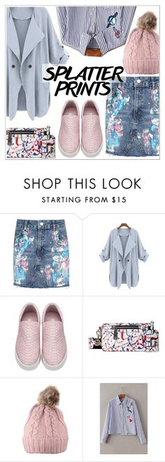 """Splatter Prints"" by teoecar ❤ liked on Polyvore featuring Topshop, Marc Jacobs, yoins, yoinscollection and loveyoins"