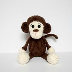 Free Crochet Monkey Amigurumi Pattern Milo is the Letter M pattern in my Amigurumi A to Z series! I love his expressive little face and Crochet Elephant Pattern, Crochet Animal Amigurumi, Crochet Unicorn, Crochet Amigurumi Free Patterns, Crochet Animal Patterns, Crochet Doll Pattern, Stuffed Animal Patterns, Crochet Animals, Free Crochet