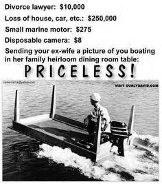 Priceless Divorce Humor