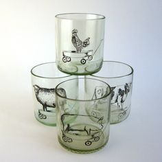 Farm Animals Tumblers Set Of 4 now featured on Fab.