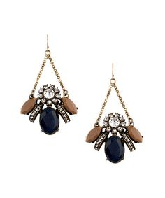 Love this Navy & Goldtone Vintage Bee Drop Earrings by Sparklepop on #zulily! #zulilyfinds