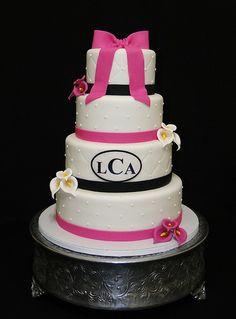 Fuschia Wedding cake
