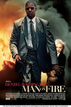"""Man on Fire"", Denzel Washington, Dakota Fanning"