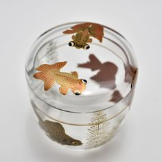 Japanese Screen, All Japanese, Jewellry Box, Japanese Artwork, Japanese Tea Ceremony, Beautiful Fish, Glass Design, Goldfish, Glass Art