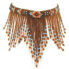 Brown Red Seed Beaded Bib Necklace Choker Jewelry Manufacturer N14 7   eBay
