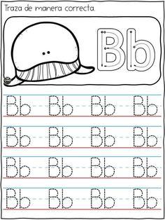 Kindergarten Writing Activities, Preschool Workbooks, Letter Worksheets For Preschool, Alphabet Tracing Worksheets, Free Kindergarten Worksheets, Preschool Learning Activities, Preschool Curriculum, Alphabet Writing Practice, All About Me Preschool