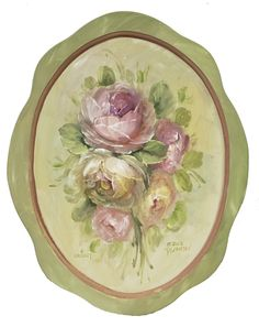 Light Rose Tray Learn to Paint It Simply with downloadable Art Lessons(http://www.jansenartstore.com/p5010d-light-roses-download/)