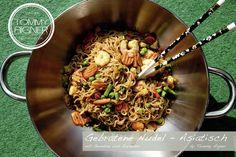 Gebratene Nudel - Asiatisch Burger, Food, Carne Asada, Meat, Koken, Noodle, Meals